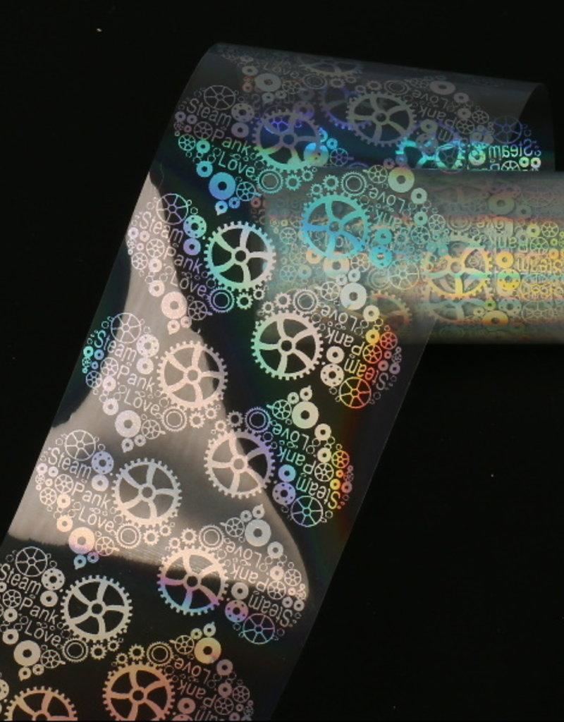Transfer Foil Holographic Clockwork