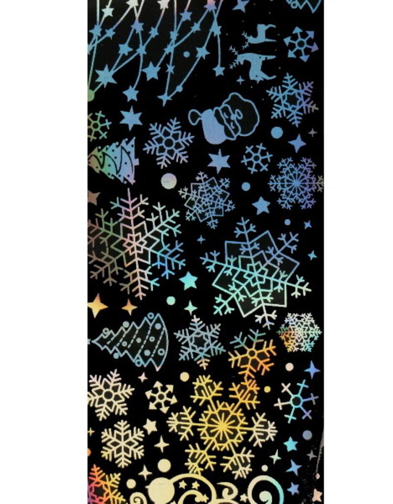 Transferfolie Holographic Snowflakes