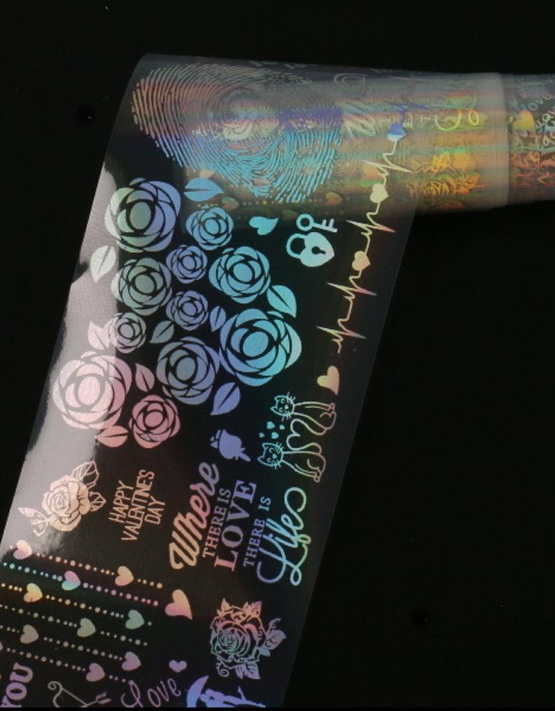 Transfer Foil Holographic Love