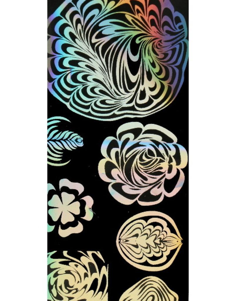 Transfer Foil Holographic Flower