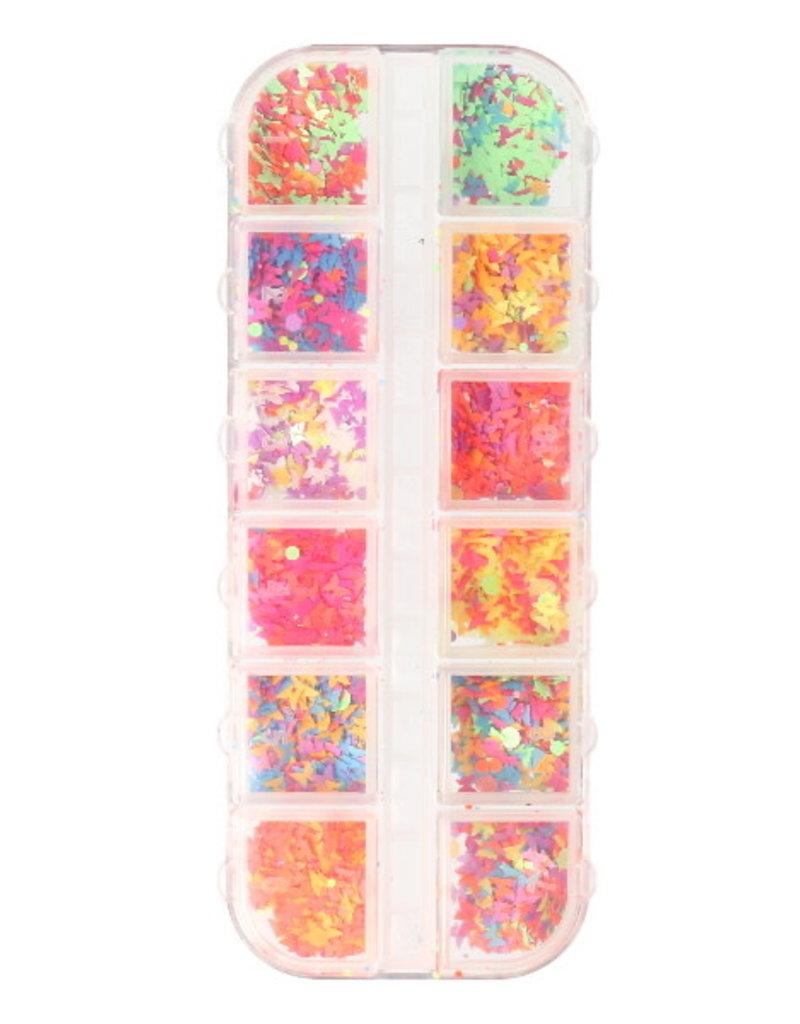 Inlay Matte Color Mix Butterflies