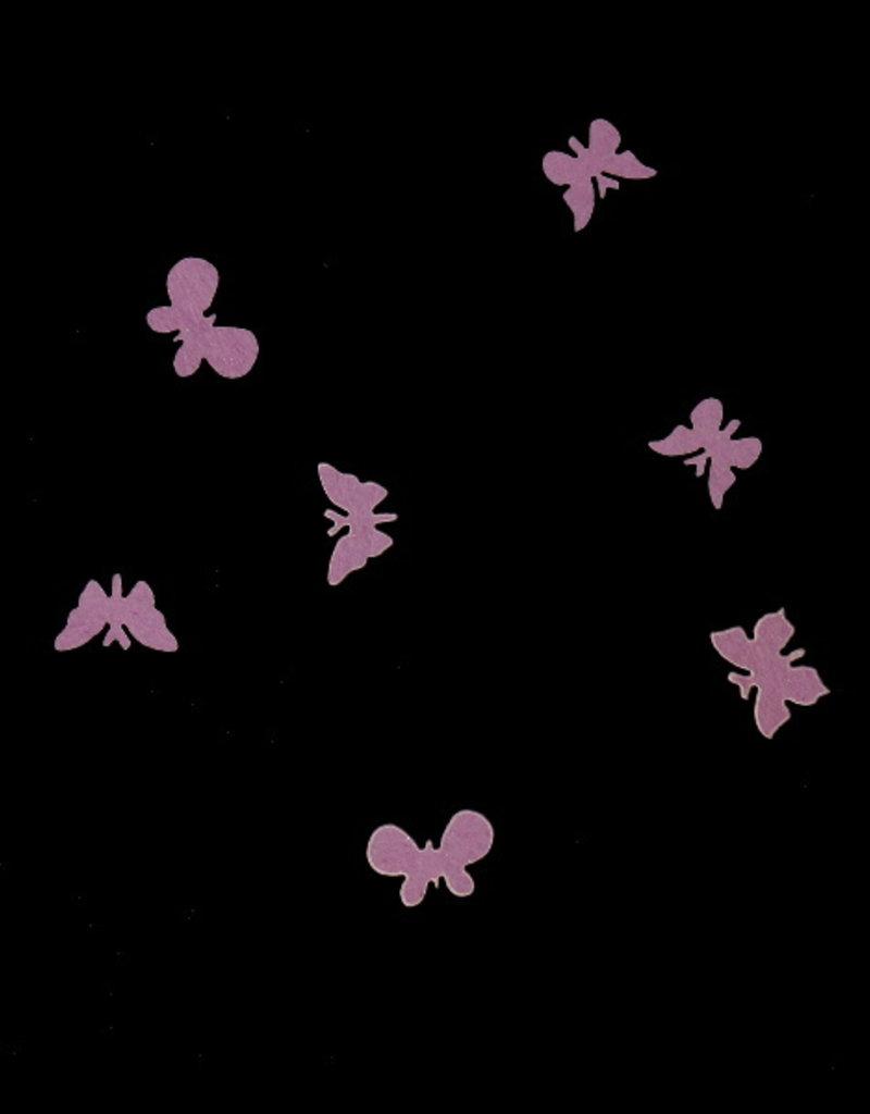 3D Butterfly Wood Purple