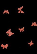 3D Butterfly Wood Orange