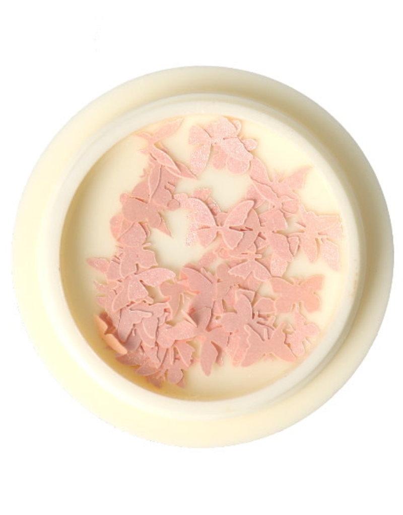 3D Butterfly Wood Light Pink