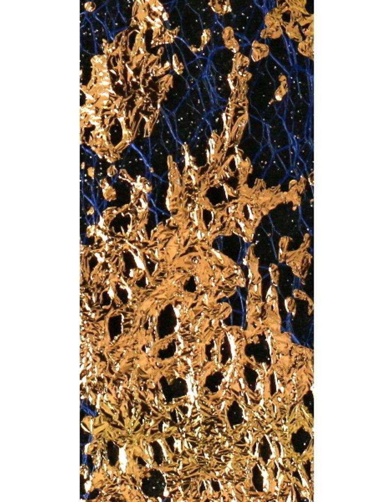 Netting Foil Dark Blue/Gold
