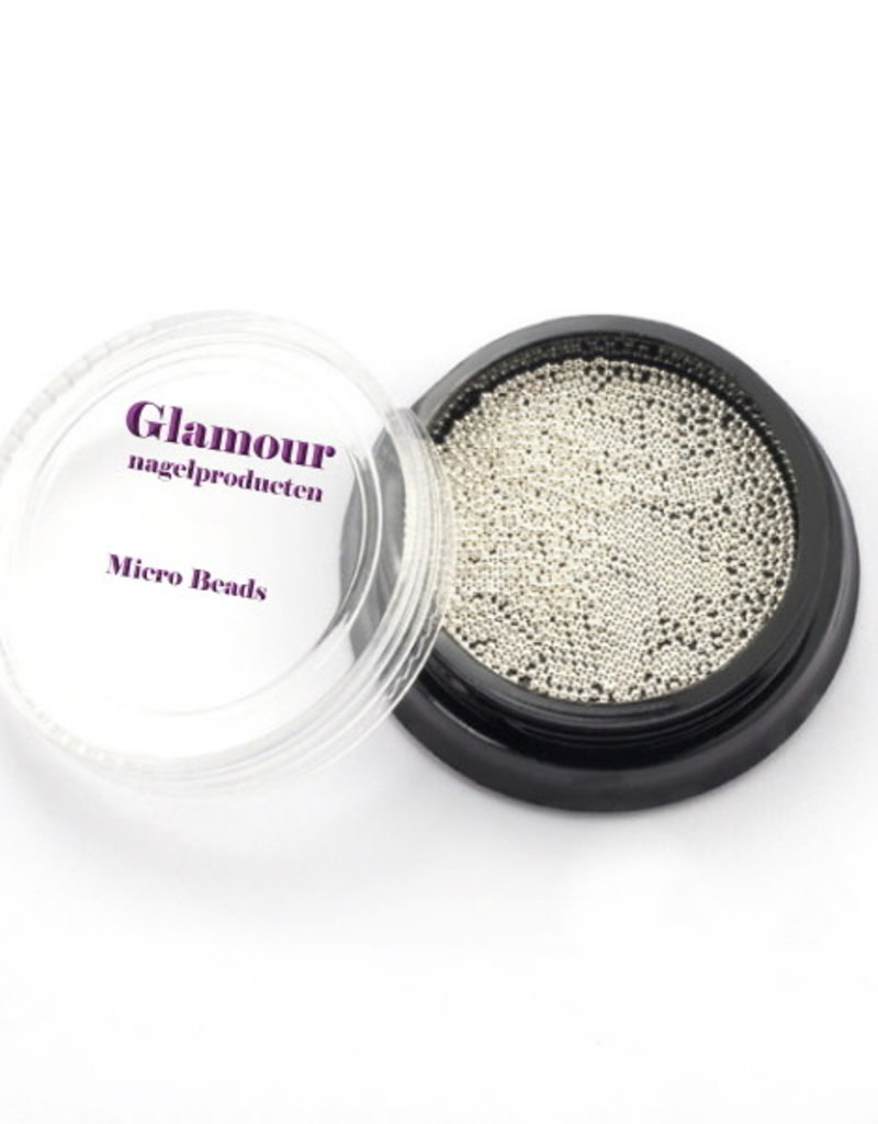 Micro Beads Silver White 1.0mm
