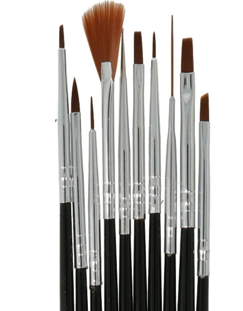 Brush Set Black 10pcs