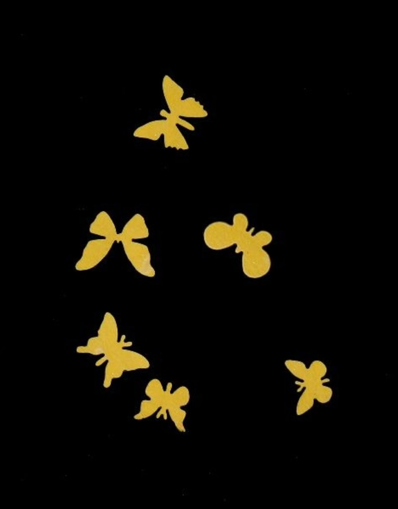 3D Butterfly Wood Yellow
