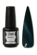 Gel on Cat Eye Glitter Emerald