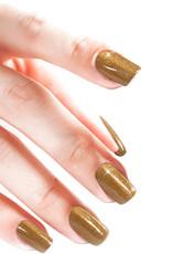 Gel On Soft Glitter Jewel Gold