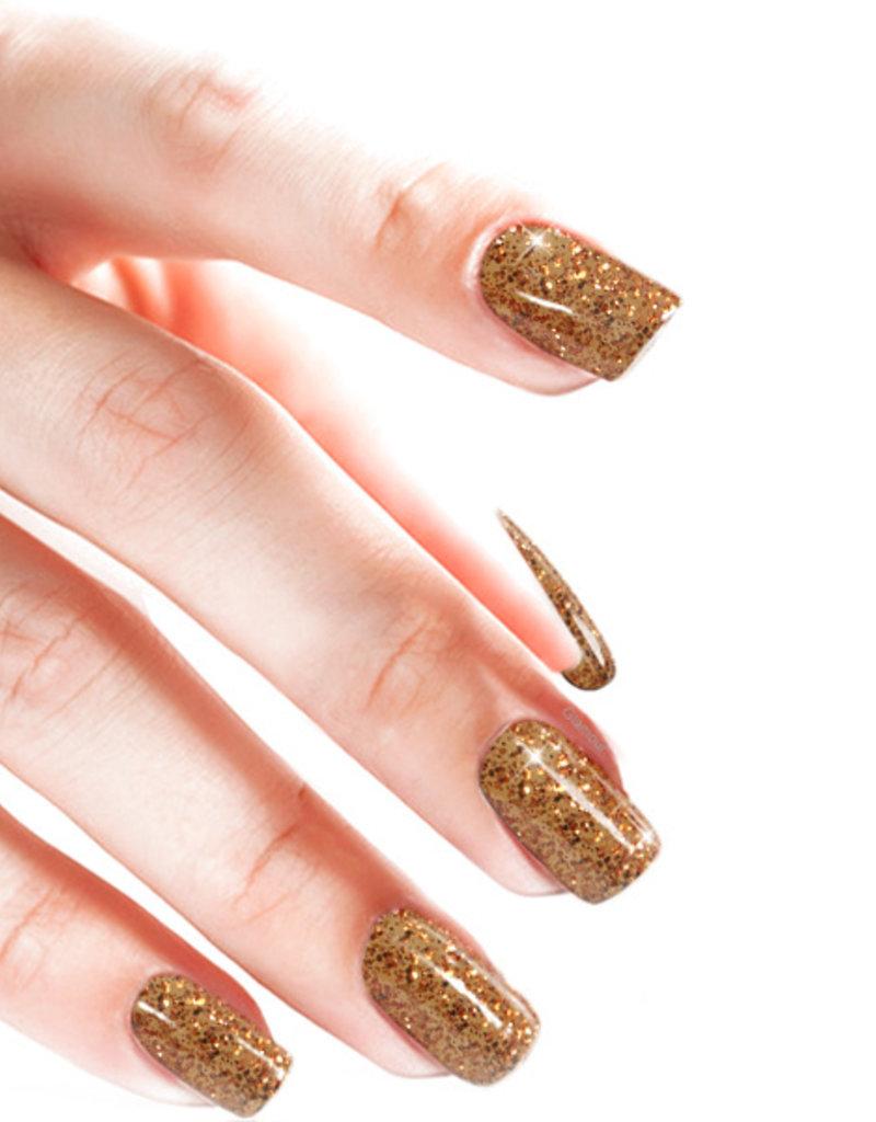 Gel On Glitter Penny Copper