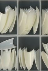 100 Tips Mini Stiletto Natural Sorteerdoos