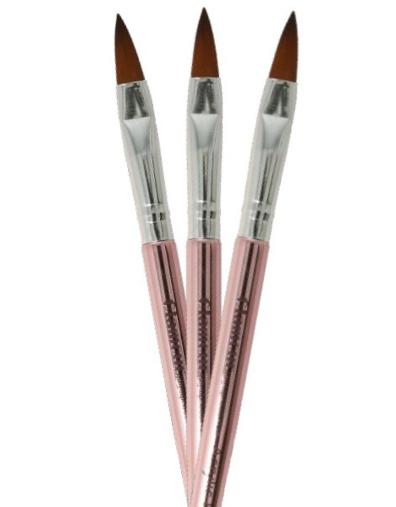 Acrylic Brush NR 10 Rosegold