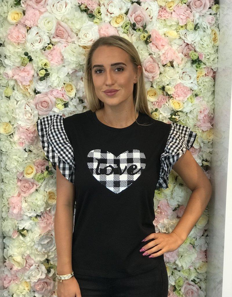 Zwart love t-shirt