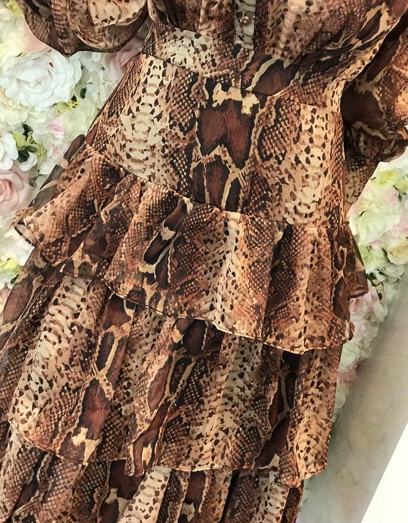 Lange tijger jurk