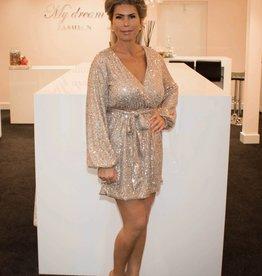 Sequins dress gold