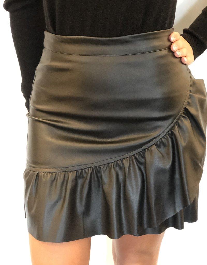 Skai leather skirt