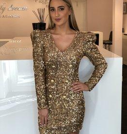 Golden button dress