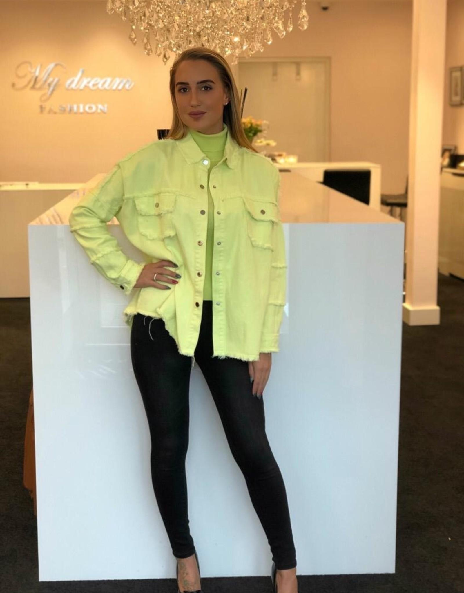Kanariegeel oversized jasje