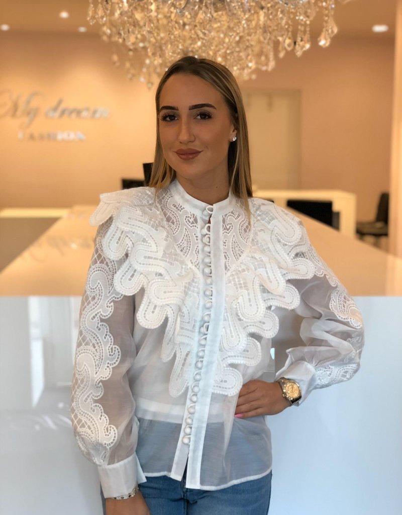 Hanna blouse wit