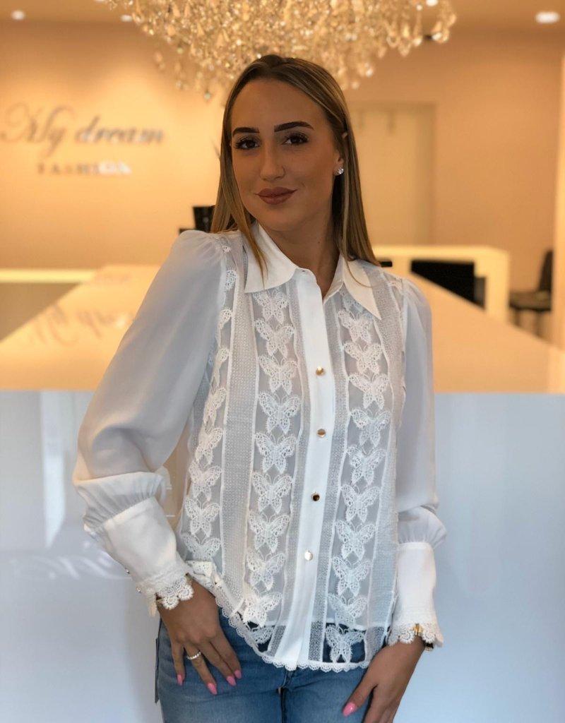 Vlinder kanten blouse