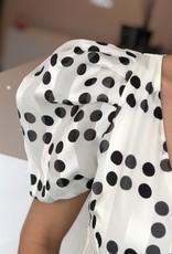 Stipjes jurk wit