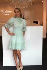 Mint groen kant jurk