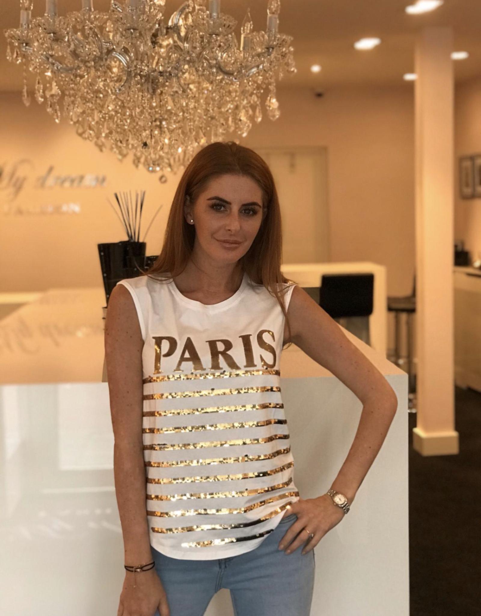 Gold paris t-shirt