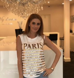 Gold paris t-shirt