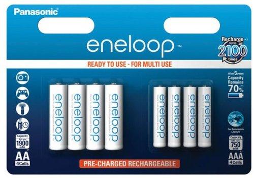 Panasonic Eneloop Panasonic Eneloop BK-KJMCCE  4 x AA + 4 x AAA  Blister 8