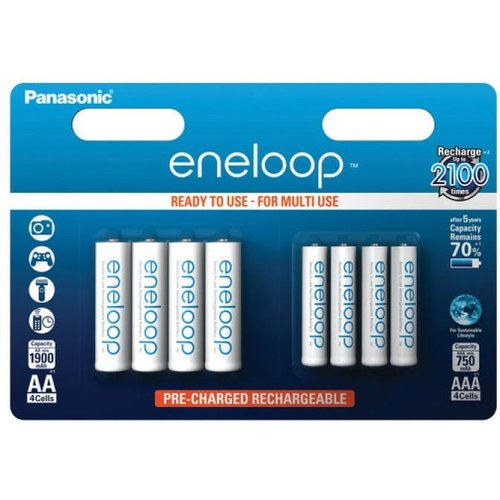 Panasonic Eneloop BK-KJMCCE  4 x AA + 4 x AAA  Blister 8