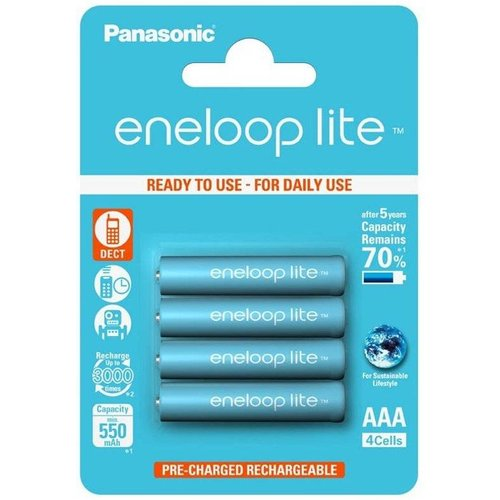 Panasonic Eneloop Lite BK-4LCCE AAA 550mAh Blister 4