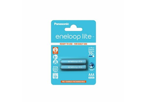 Panasonic Eneloop Panasonic Eneloop Lite BK-4LCCE AAA 550mAh Blister 2