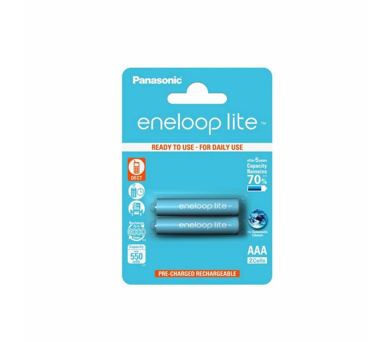 Panasonic Eneloop Lite BK-4LCCE AAA 550mAh Blister 2