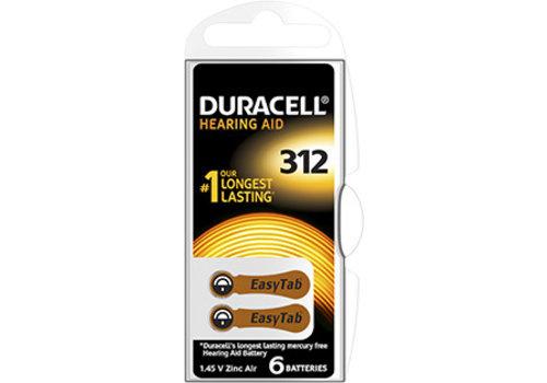 Duracell Duracell DA312 PR41 Easytab Zinc Air 1,4V Blister 6