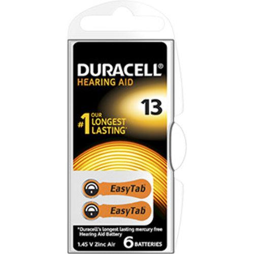 Duracell DA13 PR48 Easytab Zinc Air 1,4V Blister 6