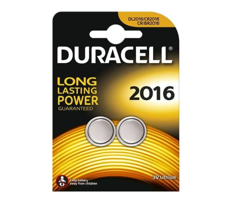 Duracell DL2016 Lithium 3V Blister 2