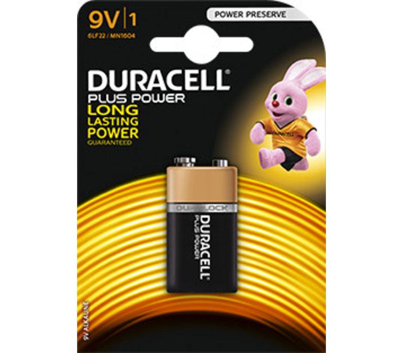 Duracell MN1604 9V 6LR61 Plus Power Blister 1