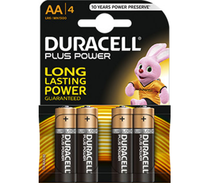 Duracell MN1500 AA LR06 1,5V Plus Power Blister 4
