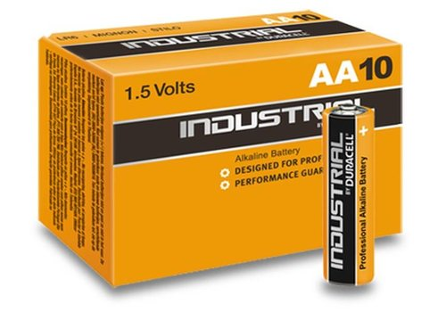 Duracell Duracell Industrial Alkaline MN1500 AA LR06 1,5V 10 Pack