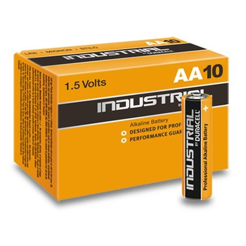 Duracell Industrial Alkaline MN1500 AA LR06 1,5V 10 Pack
