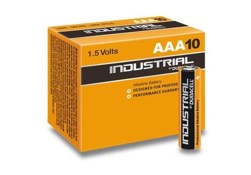 Duracell Duracell Industrial Alkaline MN2400 AAA LR03 1,5V 10 Pack