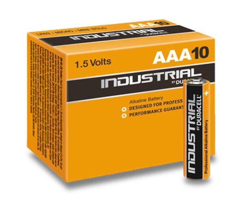 Duracell Industrial Alkaline MN2400 AAA LR03 1,5V 10 Pack