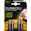 Duracell Duracell MN2400 AAA LR03 1,5V Plus Power Blister 4