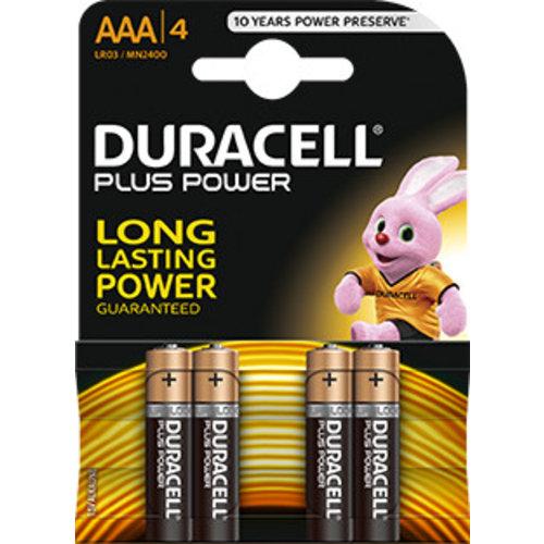 Duracell MN2400 AAA LR03 1,5V Plus Power Blister 4