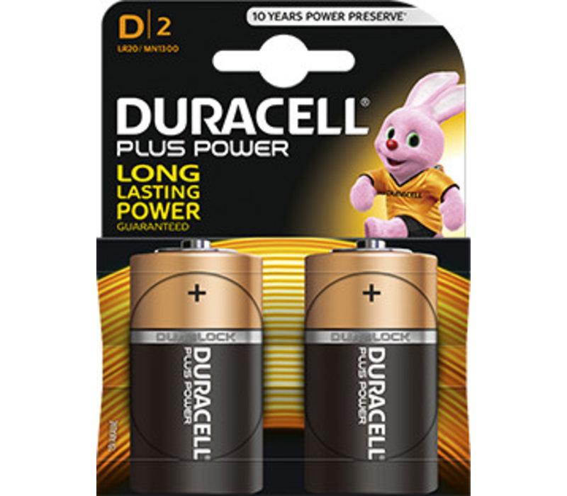 Duracell MN1300 D LR20 1,5V Plus Power Blister 2