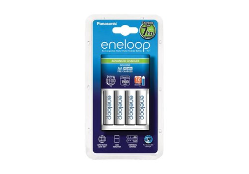 Panasonic Eneloop Panasonic Eneloop Charger BQ-CC17 + 4 x AA 1900mAh