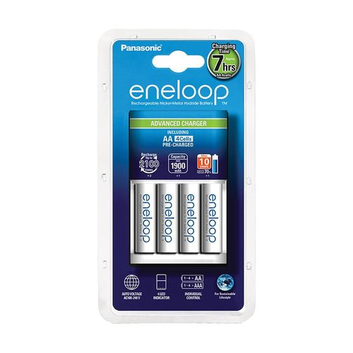 Panasonic Eneloop Charger BQ-CC17 + 4 x AA 1900mAh