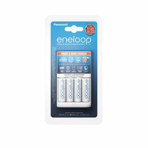 Panasonic Eneloop Smart & Quick Charger BQ-CC55 + 4 x AA 1900mAh