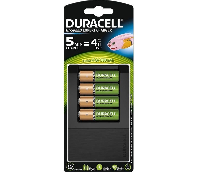Duracell Charger CEF15 15Min. Incl. 4 x AA 1300mAh